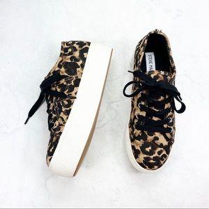 [Steve Madden] Animal Print Platform Sneakers